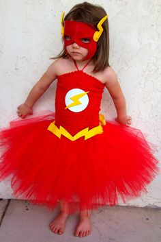 The Flash inspired tutu dress costume by GlitterPrincessGalo2, $30.00
