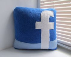 Facebook Pillow  Decorative Pillow  Handmade Pillow by giftpillows, $17.00