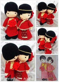 AChiBuu Handmade: Traditional Chinese Wedding Couple
