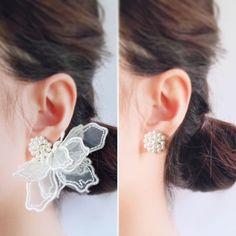 Bridesmaid Earrings, Wedding Earrings, Ring Earrings, Statement Earrings, Silver Earrings, Cute Jewelry, Jewelry Art, Beaded Jewelry, Jewelry Design