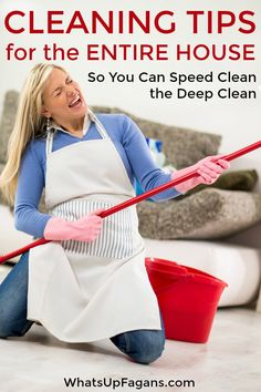 Cleaning tips so you know how to clean your house like a pro! It's speed…
