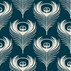 Stylised peacock feathers