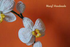 tutorial completo su come realizzare all'uncinetto una piantina di orchidea | How to crochet an orchid