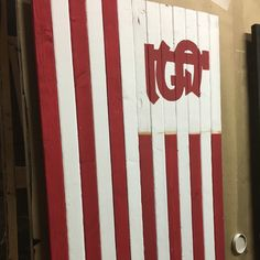 Getting ready to list a new St Louis Cardinals flag. Made to look retro in the style of the or Should be out this week! Cardinals Baseball, St Louis Cardinals, Sports Flags, Wooden Flag, Look Retro, Woman Cave, New Saints, Scroll Saw, Pallet Projects