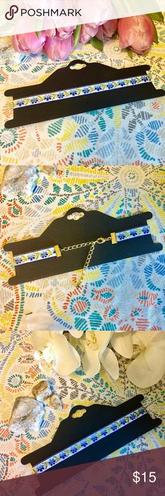 🔥 embroidered choker Brand new embroidered choker. Lobster clasp closure. Jewelry Necklaces
