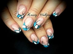 Abstract French by BellaNailz - Nail Art Gallery nailartgallery.nailsmag.com by Nails Magazine www.nailsmag.com #nailart
