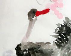 "Check out new work on my @Behance portfolio: ""黑天鵝 之吻  90x38cm 宣紙 潘柬芝 2016 poonkanchi"" http://be.net/gallery/35655837/-90x38cm-2016-poonkanchi"