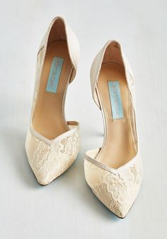 A Toast with the Most Heel in Champagne | Mod Retro Vintage Heels | ModCloth.com
