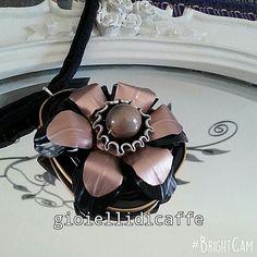 Ciondolo nero e rosa Nespresso Gioiellidicaffe