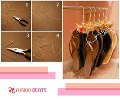 We know you are a fashionista and you always run out of space when it comes to your accessories. Try this simple shoe hanger to save up some space in your wardrobe.