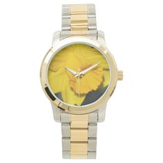 Bright daffodil wrist watch