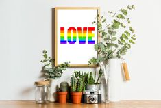 Printable Quotes, Printable Art, Printable Designs, Printables, Rainbow Quote, Love Rainbow, Colorful Wall Art, Spice Things Up, Gifts For Friends