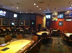 The Mint Casino Showroom in Vegas, where Cline performed, as it looks today. Now the Binion's Poker Club Room.