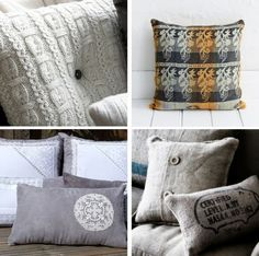 http://naturalmoderninteriors.blogspot.com.au/2013/08/recycled-fabric-cushion-ideas.html |  Recycled Fabric Cushion Ideas