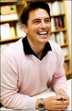 John Barrowman. Almost unrecognizable in a sweater instead of his long coat.