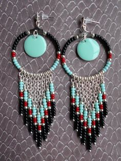 Dark dream catcher collection printemps/été : Boucles d'oreille par les-petites-boucles-d-elo