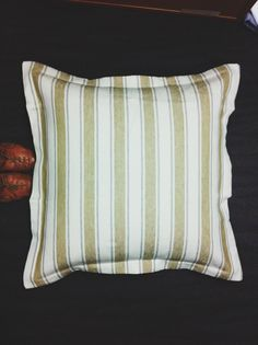 We love this Mustard striped sham, Galena, now on sale at Peacock Alley