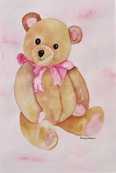 Teddy Bear  watercolor  by Betty Wilson