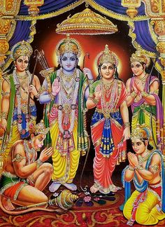 Ram Darbar - Glitter Poster - Hindu Posters (Reprint on Paper - Unframed) Lord Rama Images, Ram Image, Lord Hanuman Wallpapers, Sri Rama, Background Images Hd, God Pictures, Indian Gods, Hinduism, Folk Art