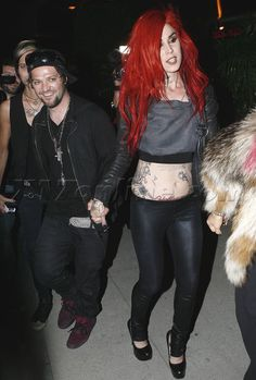 Kat Von D and Bam Margera.