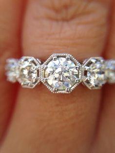 Buy Diamond Ring, Round Cut Diamond, Classic Engagement Rings, Engagement Bands, Beautiful Wedding Rings, Bezel Ring, White Gold Rings, Jewelry, Stone