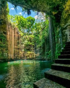 Tag who you'd take a bath here with Cenote Ik-kil, Yucatan, Mexico. Photo by – All Pictures Beautiful Places To Travel, Wonderful Places, Cool Places To Visit, Amazing Places On Earth, Romantic Places, Vacation Places, Dream Vacations, Vacation Spots, Tourist Spots