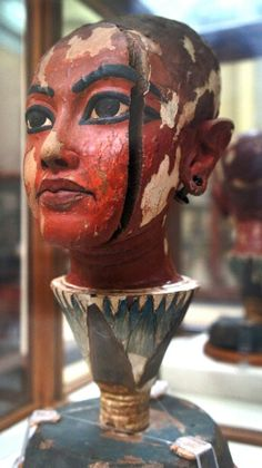 Head of Tutankhamun, New Kingdom, Dynasty 18, reign of Tutankhamun, ca. 1336–1327 B.C. -Egyptian Museum, Cairo Egypt.