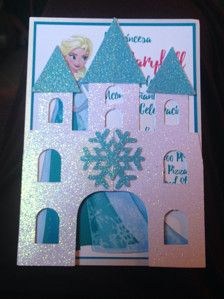 Castle Invitations with glitter card stock paper. Measure approximately 5X7 inches. If need a different color you can convo me.  Aditional cost for envelopes.  I will need...  NAME, LAST NAME PARTY DATE PARTY TIME PARTY ADDRESS RAVP/ NAME / NUMBER  (If you like) CLOTHING SIZE SIZE OF SHOES  If you would like to reword it, just convo me and I can change it. It does not has to be in Spanish AND image of Elsa can be changed.  Please allow 3-7 days for production