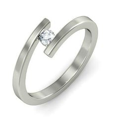 The Kierre Ring is a certified Diamond Ring In White Gold. Unique Diamond Engagement Rings, Diamond Solitaire Rings, Round Cut Diamond, White Gold Rings, Stone Rings, Jewelry, Google, Image, White Gold Wedding Rings
