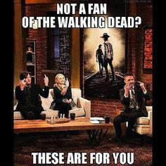 Not a fan of The Walking Dead? - Norman Reedus and Emily Kinney on Talking Dead.