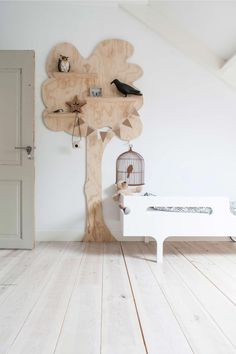 Rustic Farmhouse Interior Design Ideas that will Inspire Your Next Remodel - The Trending House Furniture Logo, Kids Furniture, Nursery Decor, Room Decor, Farmhouse Interior, Wooden Decor, Wooden Tree, Little Girl Rooms, Kid Spaces