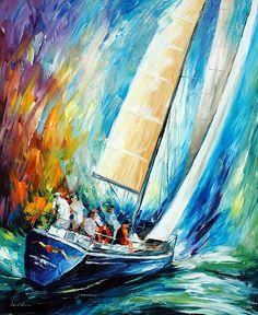 Regatta Wind by Leonid Afremov