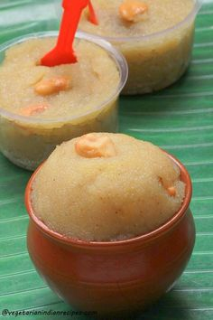 Banana sheera / banana semolina halwa is a tasty dish made with semolina / rava, banana and sugar.  Very easy to make and tasty. It is made on festivals as prasad for god.