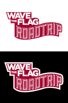 Logo for the WAVE THE FLAG Roadtrip. Designed by Johanna Walther