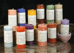 Blessed Affirmation Pillar Candles - pagan wiccan witchcraft magick ritual supplies