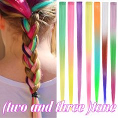 "Straight  hairpieces two tone colors ombre extensions 20"" Clip in Hilites strips hair extension Synthetic hair Rainbow for Party SMS - F A S H I O N http://www.sms.hr/products/straight-hairpieces-two-tone-colors-ombre-extensions-20-clip-in-hilites-strips-hair-extension-synthetic-hair-rainbow-for-party/ US $0.99"