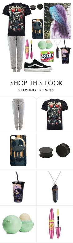 """""""Lazy mofo"""" by xxgraveyardbabyxx ❤ liked on Polyvore featuring Vans, KAOS, Disney, Eos and Maybelline"""