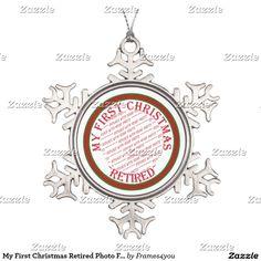 My First Christmas Retired Photo Frame Snowflake Pewter Christmas Ornament #frames4you #gravityx9 #i_love_xmas #retirementornament