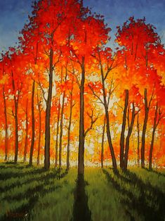 to New Heights Anton Pavlenko: Painting to New Heights.Anton Pavlenko: Painting to New Heights. Fall Tree Painting, Aspen Trees, Autumn Trees, Autumn Forest, Watercolor Paintings, Tree Paintings, Fall Paintings, Painting Art, Watercolors