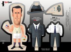 Mad Men paper dolls!