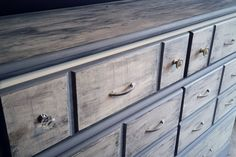 Large Wood Six Drawer Dresser Buffet with by Cozycomfyvintage