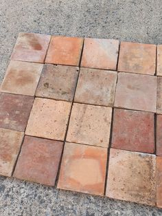 A reclaimed 19th century reclaimed terracotta floor recently sourced in france for a client Limestone Flooring, Natural Stone Flooring, Marble Stones, Stone Tiles, Terracotta Floor, Cottage Interiors, Flagstone, Porcelain Tile, Master Bath