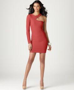 BCBGeneration Dress, One Shoulder Cutout Asymmetrical Neck Mini - Womens Dresses - Macy's