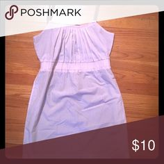Strap dress GAP Pale lilac, eyehole dress with plum straps and lining. Small tear in lining - unnoticeable when wearing. GAP Dresses Midi
