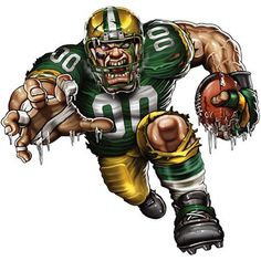 greenbay Packer fear | Green Bay Packers- NFL- Xtreme Running Back Fathead Graphic