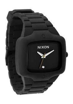 Nixon: The Rubber Playerm Watch in Black | From JP Walker's 2012 Nixon Holiday Gift Guide