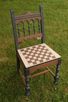 a SCRABBLE chair....an example for a Chair-ity Auction