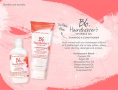 Bb.Hairdressers Invisible Oil Shampoo + Conditioner #bumbleandbumble #BbInvisible