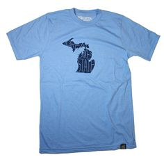 The Great Lakes State T-Shirt Light Blue