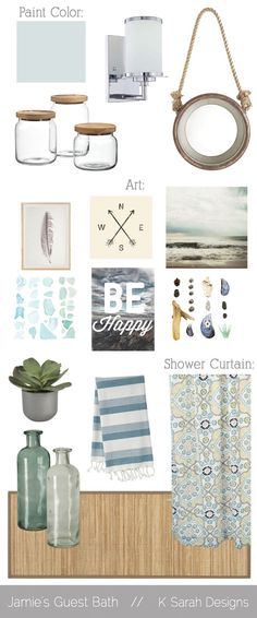 guest bath mood board - this site has some great boards